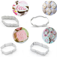 4PCS Cookie Cutters European Frame Biscuits Mold Edge Baking Cake Pastry Mould