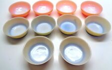 10 Fire King Anchor Hocking Solid Colored Cereal Bowls MATCHES STACKING MUGS