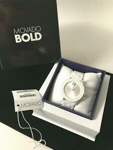 MOVADO BOLD QUARTZ WHITE DIAL WHITE CERAMIC LADIES WATCH  3600534