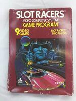 Slot Racers (Atari 2600, 1978) W/Catalog Instructions Box Cartridge Game CX2606