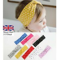 Baby Girls Twist Polka Turban Headband Hair band Head Wrap Cute Kids Stretchy