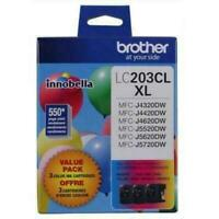 New Genuine Brother LC203CL XL 3PK Color
