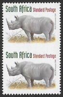 South Africa 1996-98 Rhino | Black Rhinoceros (45c) #867F IMPERF BETWEEN VF-NH