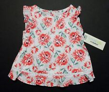 NWT! Genuine Kids From Oshkosh 18 Month Girls Top Red White Floral