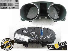 QUADRO STRUMENTI VW GOLF VI°Ser. 1.4 TSI 2009 ORIGINALE - 5K0920 870B
