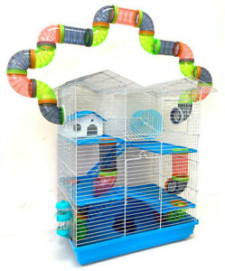 Large Twin Tower Crossover Tube Hamster Habitat Rodent Gerbil Mice Rats Cage 248
