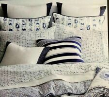Ralph Lauren Nora Zig Zag Indigo Blue and White 4Pc Queen Sheet Set Nip