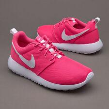 Nike Roshe One Run  Girls Kids Junior Low Running Trainers Shoes - Pink Blast.
