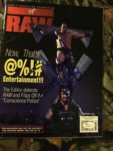 STONE COLD STEVE AUSTIN SIGNED WWE RAW MAGAZINE JSA AUTHENTICATED