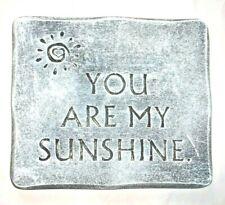 """Sunshine plaque plastic mold  plaster concrete casting 11"""" x 9.5"""" x 3/4"""" thick"""