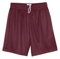 Badger Men's Athletic Fit Elastic Waistband Polyester Mini Mesh Short. 7239