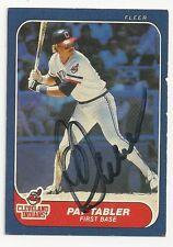 Autographed Signed 1986 Fleer 594 Pat Tabler Cleveland Indians Tough Signature