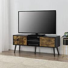 Fernsehtisch TV Lowboard Board Fernseher Schrank Unterschrank Schwarz/Holz