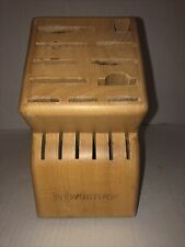 New listing Wusthof Knife Block / Holder 17 Slot Natural Wood