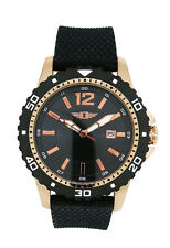 I by Invicta IBI10008-002 Men's Round Analog Date Rose Gold Tone Silicone Watch