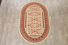 Geometric Traditional Kazak Turkish Oriental Area Rug Foyer Carpet 5x7 Oval