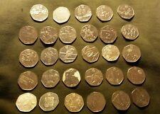 FULL/COMPLET 2012 London Olympic 50p Coin Set, toutes les 29 pièces