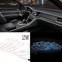 Cold El Decor Interior Wire White Strip Neon Car Light Atmosphere Unique 2M Lamp