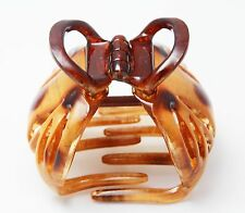 Made In France Octopus 2 x 2 Inch Hair Claw Celluloid Tortoise Shell Jaw Clip P2