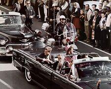 JOHN KENNEDY JFK & JACKIE ASSASSINATION RARE MOTOCADE PRESIDENT 8x10 COLOR PHOTO