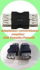 USB FEMELLE FEMELLE RELIER 2 USB , TRÈS UTILE ADAPTATEUR CONVERTISSEUR COUPLEUR