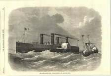 1870 The Channel Railway Ferry Proposed Steamboat To Convey The Trains