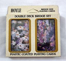 Vintage 1984 Hoyle Double Deck Bridge Floral Playing Card Set 1