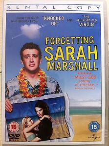 Forgetting Sarah Marshall DVD 2008 Romantic Comedy Romcom Rental Version