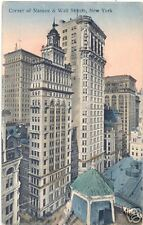 Skyscrapers at Wall & Nassau Streets by Hagemeister NYC