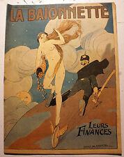 14-18/LA BAIONNETTE/REVUE SATIRIQUE/1917/N°17/LEURS FINANCES/DE GASTYNE/METIVET.
