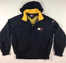 Vintage 90s TOMMY HILFIGER Mens Medium Big Patch Spell Out Windbreaker Jacket