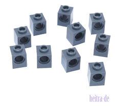 LEGO Technik - 10 x Stein 1x1 mit Loch dunkelgrau / Lochstein / 6541 NEUWARE