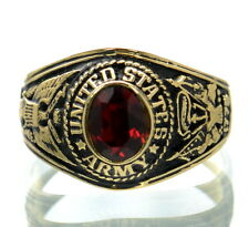 Made in USA US Army Gold Plated Military Ring Size-10.5 '