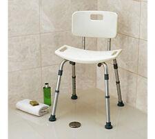 SEDILE per doccia Sgabello con schienale bagno Aiuto Disabilità Mobilità