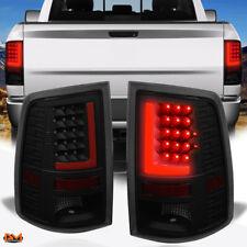 For 09-17 Dodge Ram Pickup Red 3D LED L-Bar Tail Light Rear Reverse Lamp Tinted