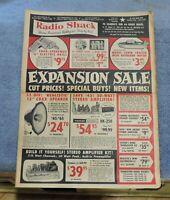 VINTAGE 1960 RADIO SHACK EXPANSION SALE FLYER / CATALOG (R)
