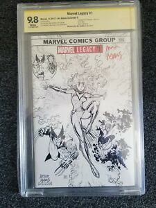 Marvel Legacy #1 CBCS SS 9.8 SIGNED Arthur Adams Sketch Variant C 1st Appearance