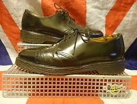 England Vintage*Black Brogue Dr Doc Martens Shoes*Skingirl*Steampunk*Goth*Punk*6