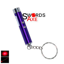 Laser Pen Pointer Led Flashlight Key Chain and Led (2 In 1) Purple Keychain