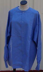 Best Medical Warm up Jacket Snap Closure Knit Cuff Ceil Blue Size 2X