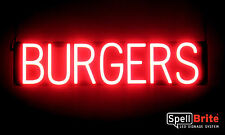 SpellBrite Ultra-Bright BURGERS Sign Neon-LED Sign Neon look, LED performance