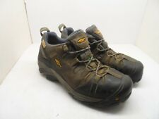 KEEN Men's CSA Oshawa Low Steel Toe Work Shoes Brown/Black M Width