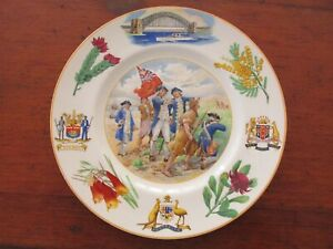 Vintage Royal Doulton Sesqui Centenary 150 Years Cooks Landing Cabinet Plate
