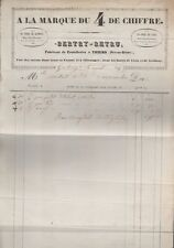 facture 1845.Bertry-Retru,coutellerie,Thiers.A la Marque du 4 de Chiffre