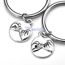 2x Pinky Promise Matching Keyring Lover Best Friend Sisters Family Keychain Gift