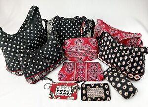 Vera Bradley Black/Red Duffel Hobos Wallets -Lot of 10