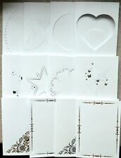 Kanban White Card Blanks with Foiled or Aperture Finish & white Envelopes New