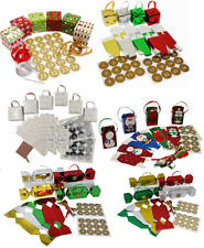 Make & Fill Your Own Advent Calendar Vintage Christmas Tree Decoration 6 Designs