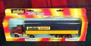 """SOLIDO """"Toner Gam"""" #363 Magirus Deutz + Fruehauf """"Solido"""" (MIB) Made in France"""