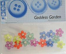 Goddess Garden / Small Gem Flower Embellishments / Jesse James Dress It Up